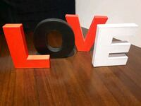 LOVE sign, standing letters, leather look Hamilton, L8H 1X6
