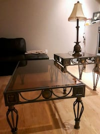 Coffee table set with tow lamps  Brampton, L6V 3A8