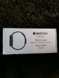 Apple Watch Series 3 38mm Space Gray Blk Sport GPS