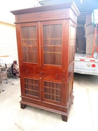 Armoire solid wood with bamboo Vintage Torrance, 90501