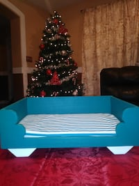 blue wooden framed daybed with mattress Mission, 78574