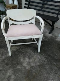 Sturdy antique painted armchair