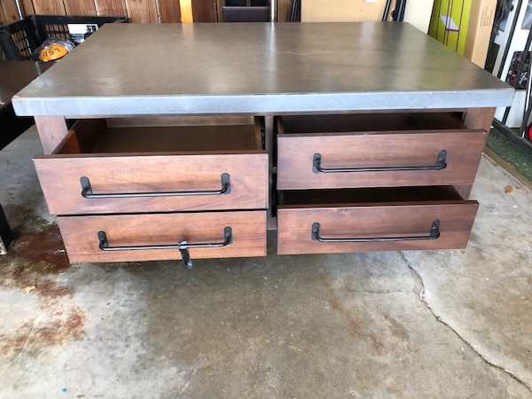 Used Coffee Table With For Storage Drawers For Sale In