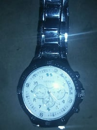 round silver chronograph watch with link bracelet Cocoa, 32926