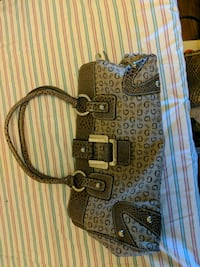 brown and gray monogram Coach leather crossbody ba White City, 97503