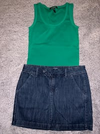 Set of two/old navy skirt size 4 L.Lauren top size M 817 mi