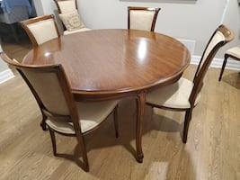 French inspired Solid Wood dining set with 6 chairs