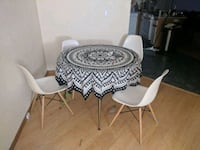 round white wooden table with two chairs Eugene, 97405
