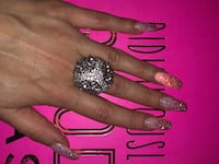 Cocktail beautiful detailing crystal dome ring  Markham, L3T 7N1