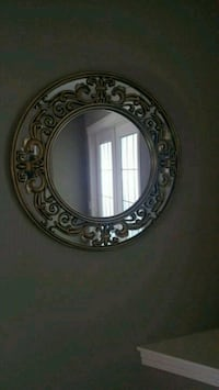 round brown wooden framed mirror Chestermere, T1X 1S5