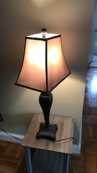 black and brown table lamp 39 km