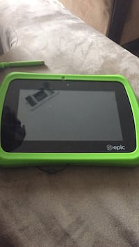black and green Leap Pad tablet
