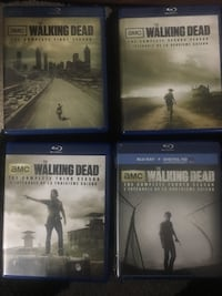 The first four seasons of The Walking Dead on BluRay Brampton, L6Y