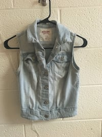 acid-washed Mossimo soft denim vest 37 km