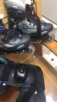Black-and-gray inline skates size 7 College Park, 20740