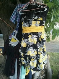 black and yellow floral sleeveless dress Lodi, 95240