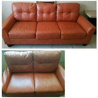 brown leather 3-seat sofa Frederick, 21701