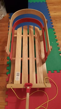 vintage wooden baby sled toy Toronto
