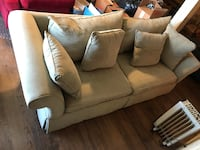 white leather 2-seat sofa Knoxville, 21758