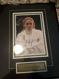 Sharon stone autograph picture in frame  Barrie, L4N 8S5