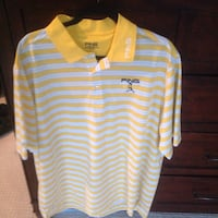 white and yellow Ping stripes polo shirt