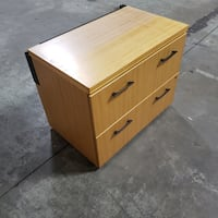2 Drawer Lateral Wooden Filing Cabinet