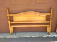 brown wooden bed headboard and footboard Montreal, H4G 2Y7