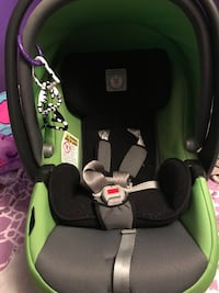 Baby's black and green car seat