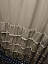 Shower curtain. Grey, nice material Baltimore, 21202