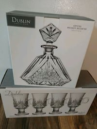 Dublin Crystal whisky decanter and coffee mugs Gambrills, 21054