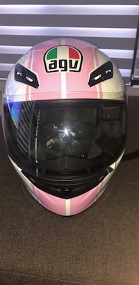 white and pink full face helmet North Ryde, 1671
