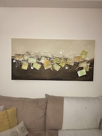 Green and brown abstract painting Brampton, L6V 4S3