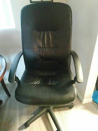 Black Leather Swivel Chair w/ adjustable height