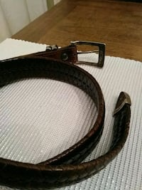Hand crafted leather belt with 925 silver backle Guelph, N1E 4C1