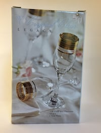 Set of 4 pieces Crystal Clear Legacy 12Gold and Platinum flutes box Charlotte, 28213