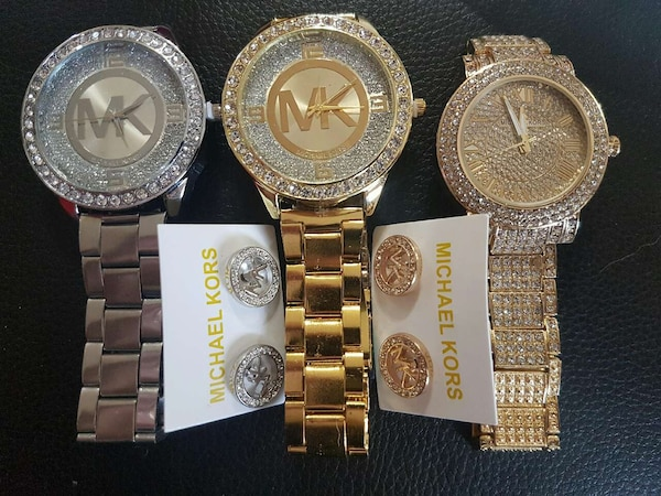 5bfcde5b3ae7 Used MK watches Iced out for sale in Montréal - letgo