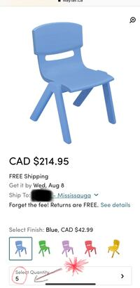Kids Sturdy Classroom/Day Care Chairs Mississauga, L5J 1R2