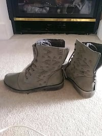 Genuine leather boots. Size 10