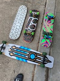 4 Skateboards/Longboard