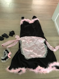 pink french maid costume-size medium/large Toronto, M5H