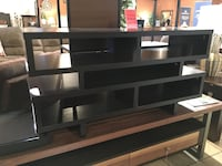 Espresso low tv stand new