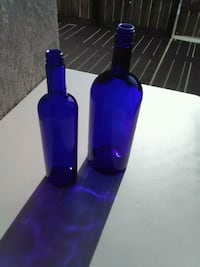 two blue tinted glass bottles Bakersfield, 93309