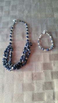 blue beaded necklace and bracelet North Oaks, 55127