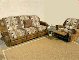 Goregous Brown Sofa Set, DELIVERY AVAILABLE