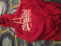 Red and white superdry hoodie worn 1 time New York, 10460