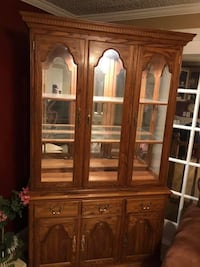 China cabinet and matching oak wood table West Jordan, 84084