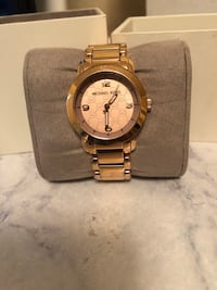 round gold Michael Kors analog watch with link bracelet Sanford, 32771