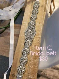 NEW Bridal belt: crystal with beading
