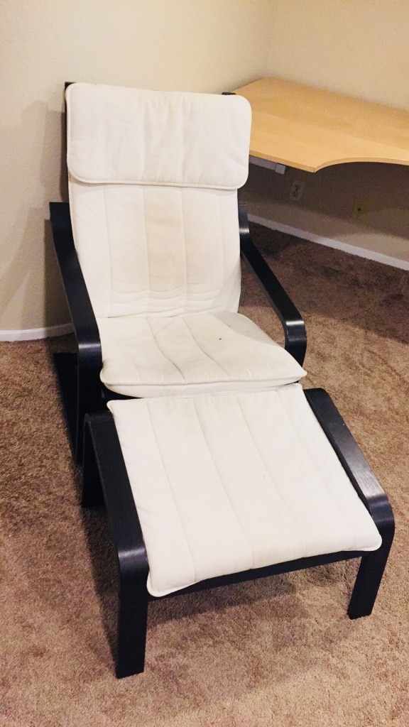 White And Black Glider Chair
