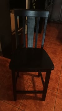 black wooden chair with black pad White Plains, 10606